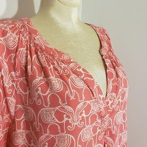 Crown & Ivy Elephant print top size Medium